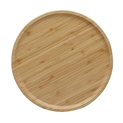 Bandeja de madera redonda de 20/25/30 / 32cm, plato de comedor decorativo para mesa de centro, mostrador de cocina para sala de estar