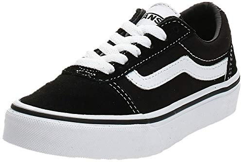 Vans Unisex Kinder Ward Suede/Canvas Sneaker, Schwarz ((Suede/Canvas) Black/White Iju), 38 EU