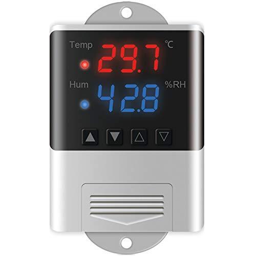 Huante contra humedad de temperatura, termostato digital AC110-220 V LED para termorregulador de incubador de acuario