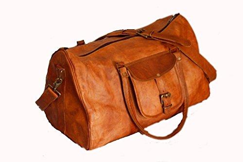 Shakun Leather Nueva bolsa de viaje, Bolso de cuero del gimnasia, diseño vintage, NUEVO