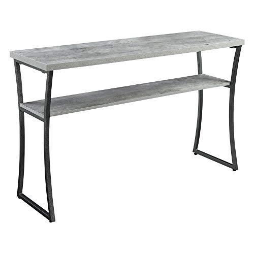 Convenience Concepts X-Calibur Console Table, Faux Birch / Slate Gray Frame