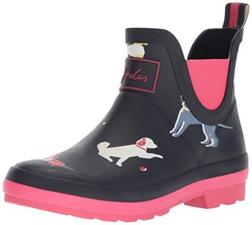 Joules Baby-Girl's JNRWELLIBOB Rain Boot, Navy Sunday Best Dog, 2 Medium US Infant