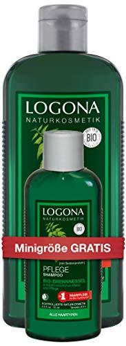 LOGONA natuurlijke cosmetica verzorgende shampoo bio-brandnetel 2 x 325ml
