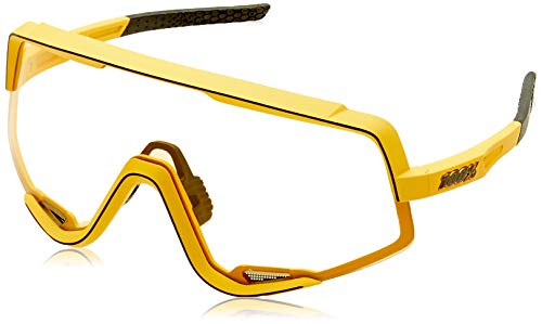 100 Percent Glendale-Soft TACT Mustard-Yellow inkl. Smoke Lens Instead of Standard Spare Clea, Erwachsene, Unisex, Orange, Estandar