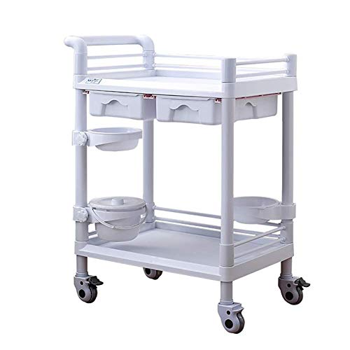 Sale!! DJP Recycling Vehicles,Salon Beauty Cart on Brake Wheels, Abs Trolley Storage Organizer with ...