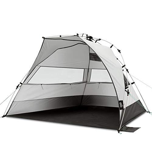 Qeedo Quick Bay XL Tente de Plage (Quick-Up-System), avec protection UV (UV80), abri de plage pop-up