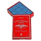 Silver Cup National Tournament Pool cue Billiard Premium Chalk - ONE Dozen - Blue