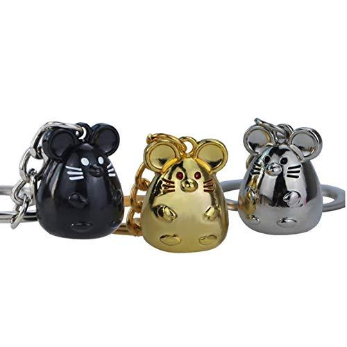 MOTZU 3 Pack Tier Schlüsselanhänger,2020 Neujahr Symbol Metall Schlüsselanhänger,Frauen Mädchen Niedliche Schlüsselring,Lustige Ratte Maus Schlüsselkette,Autoschlüssel Inhaber,Tasche Anhänger Ornament