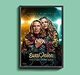 Liuqidong Cuadros Decorativos Concurso de la canción de Eurovisión la Historia del Fuego Saga película Lienzo póster decoración de la Pintura de la Pared del hogar 60x90cm