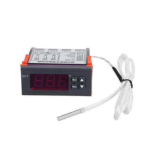 LKK-KK DC12V / DC24V / AC220 Digital Termostato regulador de temperatura de alta temperatura de alarma K de entrada -30~999 (Tamaño: DC24)