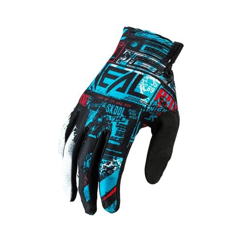 O'NEAL | Fahrrad- & Motocross-Handschuhe | MX MTB DH FR Downhill Freeride | Langlebige, Flexible Materialien, belüftete Handoberseite | Matrix Glove | Erwachsene | Schwarz Blau | Größe L