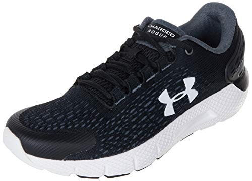 Under Armour UA GS Charged Rogue 2, Zapatillas para Correr, Calzado Deportivo De Calidad para Hombre Unisex Adulto, Negro (Black/Halo Gray/White), 38 EU