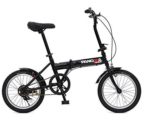 PANGAEA(パンゲア) パンクしない折りたたみ自転車 FDB160-NP タフ コンパクト ブラック ノーパンクタイヤを採用 16インチ 泥除け装備 94202-0199