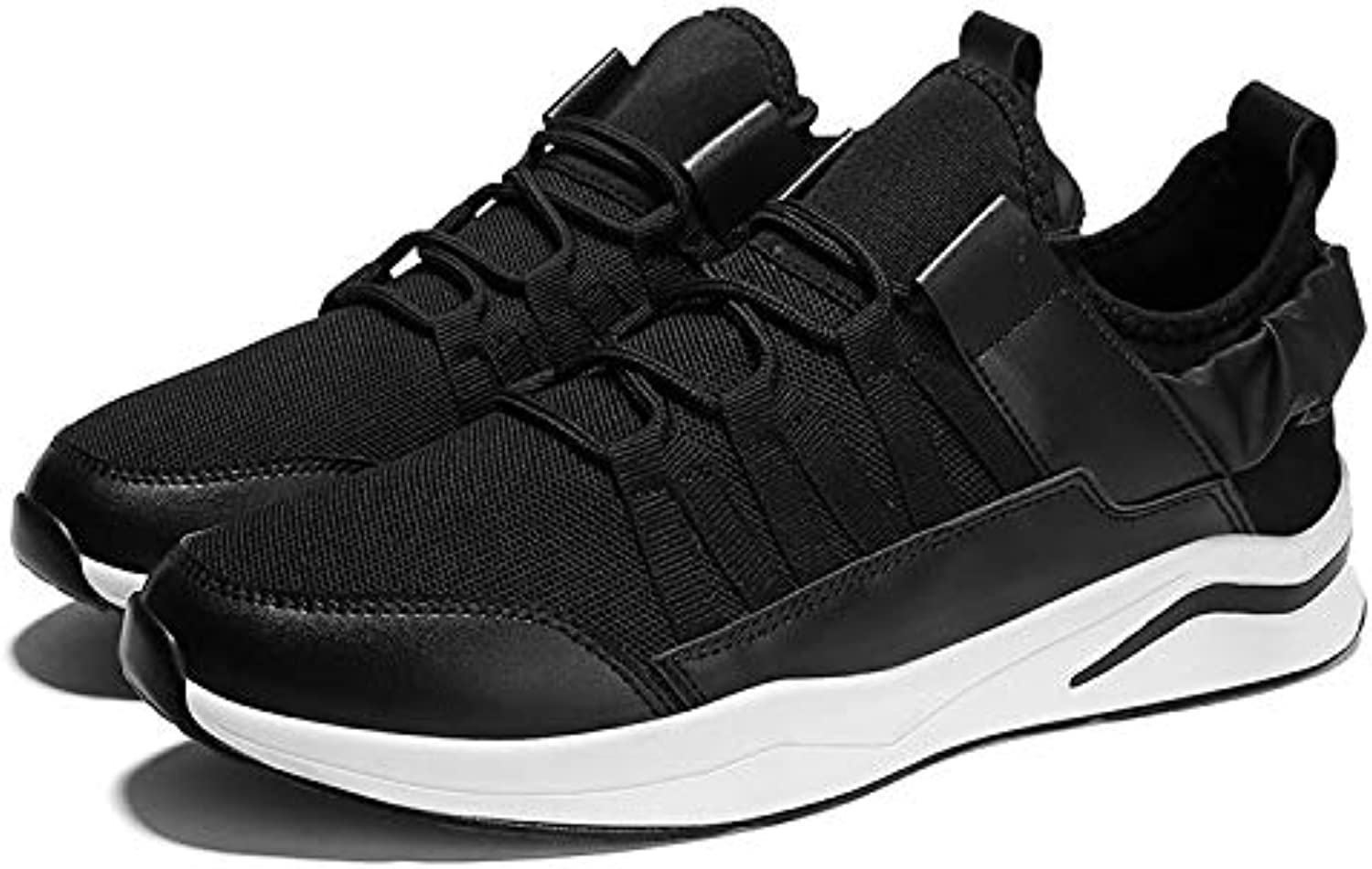 Anstorematealliance Outdoor&Sports shoes PU Leather Breathable Low-top Sports Casual shoes for Men (color Black Size 39)