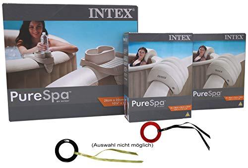 Intex Set mit Getränkehalter und 2 Kopfstützen für Whirlpools mit Targit-Glider