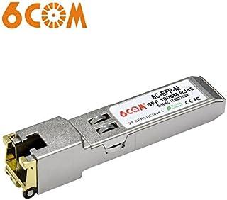 6COMGIGA Ricetrasmettitore SFP para Ubiquiti, 1.25 Gigabit RJ45 Copper SFP Module, 1000Base-T