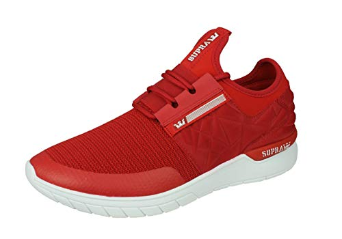 Supra Flow Run Mens Casual Sneakers Fashion Shoes-Red-9.5