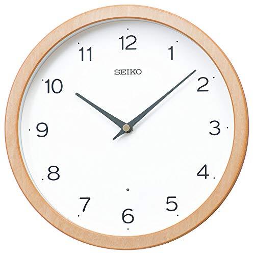 セイコークロック 掛時計 電波 アナログ 天然色木地 直径270×48mm KX267B