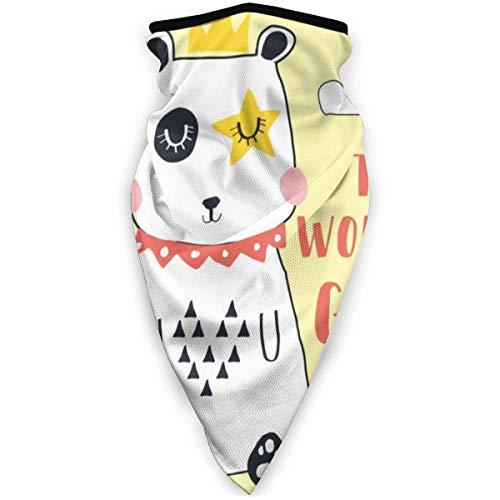 SUN Flower Unisex Little White Dog mit Krone The Neck Warmer Weiche Halsmanschette Winddichte Bandanas Thermal Ear Face Cover für Männer Frauen