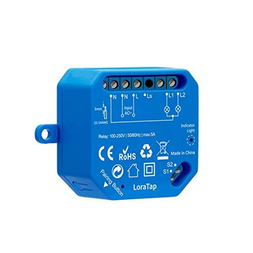 LoraTap Interruttore Wi-Fi a 2 Vie, Modulo Relè WiFi 220V per Luci, Controllo App Smart Life, Controllo Voice con Alexa e Google Home, 5A
