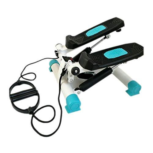 KUYUC Ministepper Up-Down-Stepper mit Power Ropes, Swing Stepper Drehstepper Sidestepper, Twister Stepper für Tone Ihr Gesäß, Beine Oberschenkel Taille (Color : Blue)