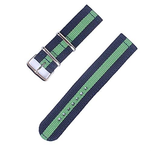 PAZHOU Correa de reloj de 20 mm y 22 mm para Samsung Galaxy Watch 46 mm 42 mm Active2 Active1 Gear S3 Frontier Sports Nylon Nato correa (color de la correa: 111, ancho de la correa: 20 mm)