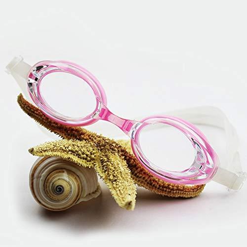 MHP Schwimmbrillen wasserdichte Anti-Fog-HD-Freizeitmode für Männer und Frauen - Stilbrillen, pink