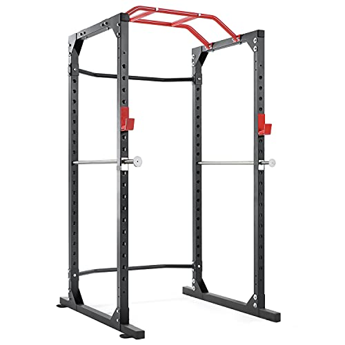 Power Cage Squat Rack Cage with 2021 Upgraded Galvanized Safety Bar,...