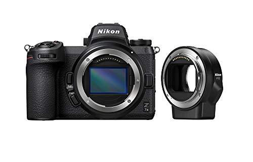 Nikon Z 7II Spiegellose Vollformat-Kamera mit Nikon Z 24-70mm 1:4 S und FTZ-Adapter (45,8 MP, 10 Bilder pro Sek., Hybrid-AF, 2 EXPEED-Prozessoren, doppeltes Speicherkartenfach, 4K UHD Video)