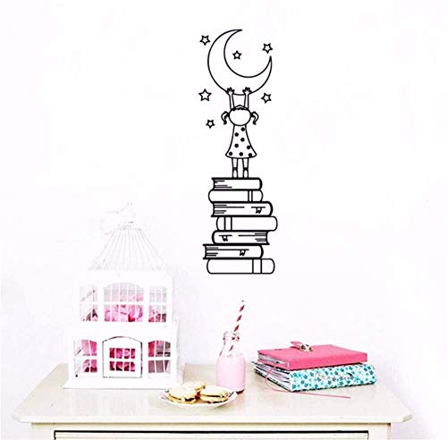 Wall Sticker Cartoon Book Is The Ladder Wall Art Decor For Living Room Bedroom Wall Art Sticker Murals 30X92Cm