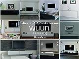 Wuun® TV Board hängend/8 Größen/5 Farben/160cm Matt Weiß- Eiche/Lowboard Hängeschrank Hängeboard Wohnwand/Hochglanz & Naturtöne/Somero - 7