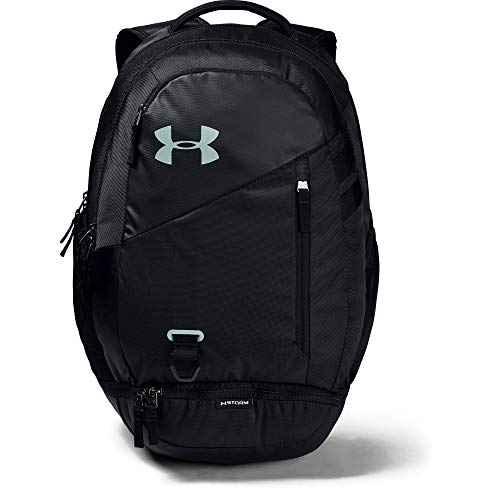 Under Armour Adult Hustle 4.0 Backpack , Black (004)/Atlas Green , One Size