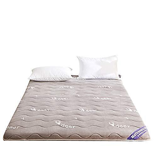 WENZHEN Funda De Colchon Anti Chinches,Piso Acolchado japonés Futón Colchón Espesor Tatami Mat Sleeping Pad para Adecuado para Camping Huéspedes Niños-UNA_120x190 cm (47x75 Pulgadas)