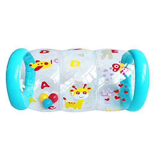 WIIBST Baby Steps Roller, Animal Inflable Baby Roller con Sonidos de sonajero, Adecuado a Partir de 0 Meses para Gatear y Hacer Ejercicio y Entrenar Baby Steps