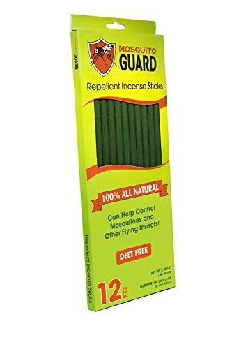 Mosquito Guard- Bâtons d'encens répulsifs pour moustiques – Bâtons d'encens de 30cm répulsifs aux insectes 100% naturel