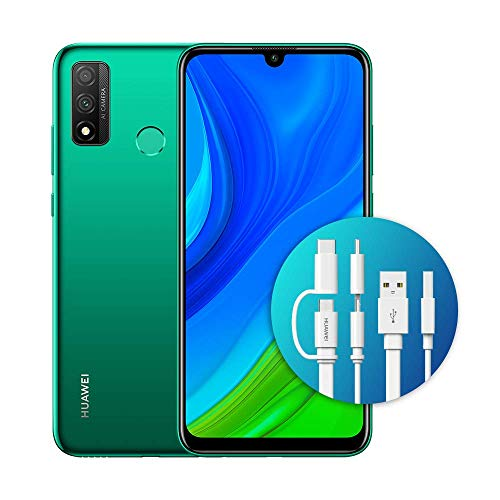 "HUAWEI Psmart 2020 con Adattatore AP55S, Display FullView da 6.21"", Kirin 710 - Octa Core (Versione Italiana), Emerald Green"