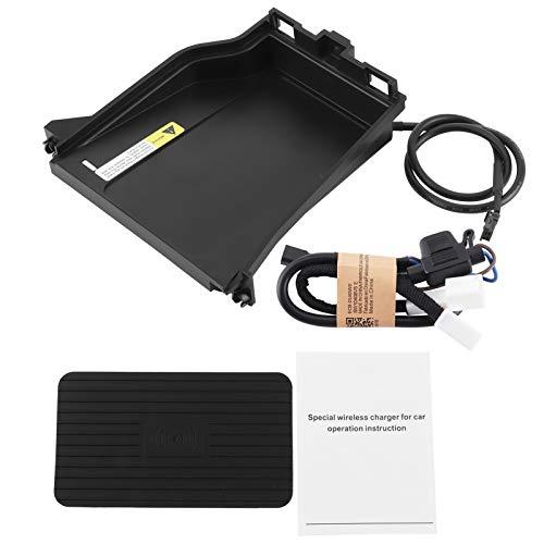 Cargador inalámbrico para automóvil, cargador inalámbrico para automóvil de 9-16 V, almohadilla de carga rápida, soporte para teléfono de 15 W, apto para 2016-2020