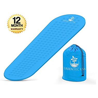 Premium Self-Inflating Sleeping Pad - Inflatable Foam Sleeping Mat for Camping, Hiking, and Traveling - Lightweight, Compact, and Durable - Works Perfectly with a Mummy or Envelope Sleeping Bag