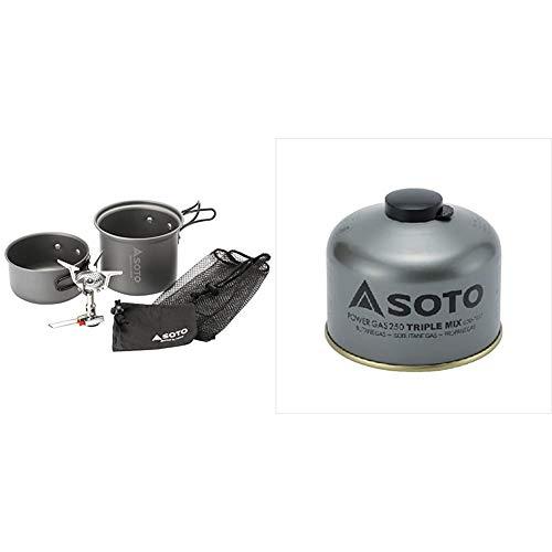 ソト(SOTO) アミカスクッカーコンボ SOD-320CC & パワーガス250 トリプルミックス SOD-725T【セット買い】
