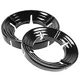 YARNOW Wok Ring Black Enamel Wok Rack Round Gas Estufa Parabrisas Tamaño Reversible Wok Anillo de La Estufa Soporte para Quemador de Gas Uso de Cocina