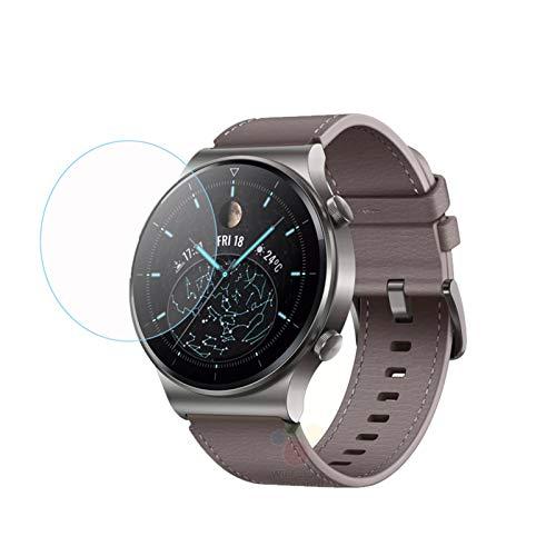 XXY 5 UNIDS Vidrio Templado para Huawei GT2 Pro Protector de Pantalla Película para Huawei Watch GT 2 Pro 46mm Funda de Borde Completo 2.5D Partes de Vidrio (Color : 2pcs)