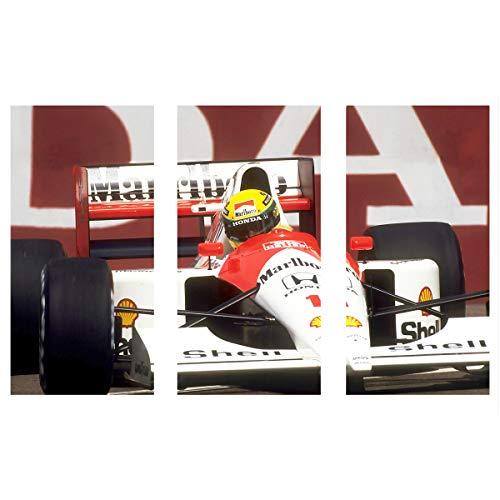 Quadro MDF Ayrton Senna Fórmula 1 F1 McLaren 90x60cm