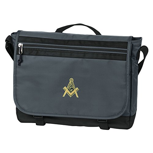 Masonic Nail-Head Messenger Bag Grey