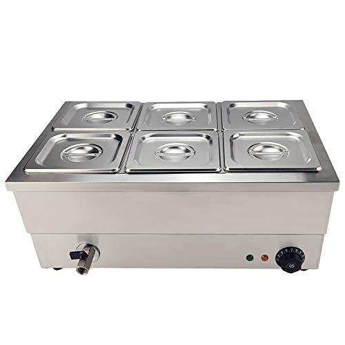 T-CAT Baño María 1/6 - max 110°C 220 Volt 1500 Watt Profundidad 15cm grifo de vaciado Control de Temperatura