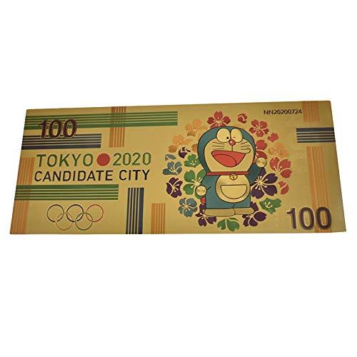 YJZZ Nouveau Billet d'or au Japon Dragon Ball Goku Kakarotto 10000 Yen Souvenir d'enfance de Costumes z Poste de Dragon Ball for la Collecte (Couleur : Doraemon, Taille : 1pcs)