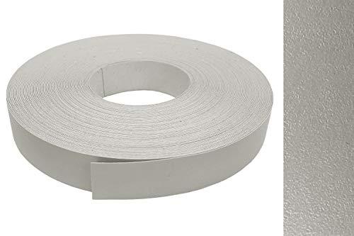 EisenRon - Cubrecantos de melamina (22 mm de ancho, 10 m de largo), color plateado