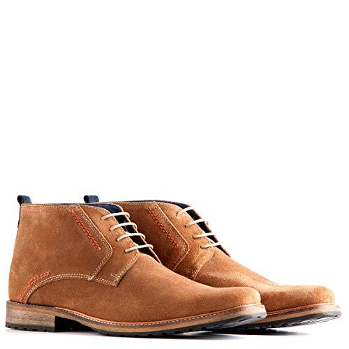 Travelin' London Wildleder Chukka Boots - Business Schuhe mit Schnürsenkel - Hellbraun EU 49
