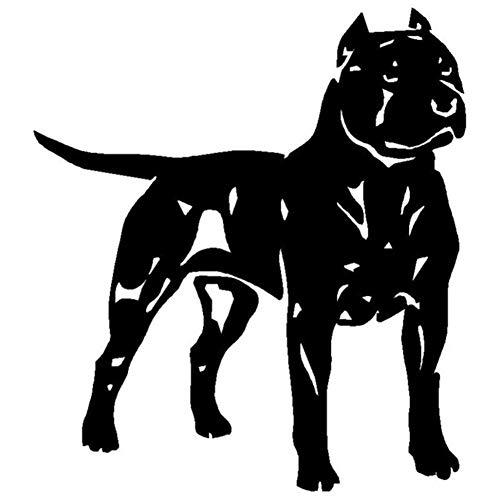 YINGJUN Perro de Terrier de Pitbull 13.5x15.1CM American Staffordshire Animal Decal Car Styling Vinilo Decorativo C6-1110 Accesorios (Color : Black)