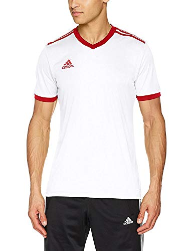 adidas TABELA 18 JSY T-Shirt, Hombre, White/Power Red, L