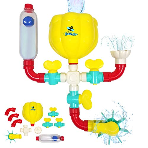 BubbleBee Bath Toys - 11 Piece Bath Toy Set, STEM...